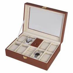 Brown - 82 Watch & Jewellery Organizer