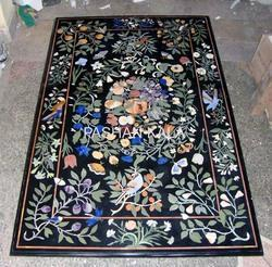 Stone Rectangular Table Top Inlay