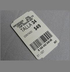 Barcode Garment Tags