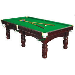 Pool Table with Green Table Cloth