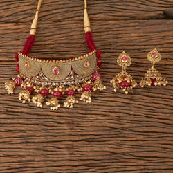 Antique Choker Necklace with gold plating 20148