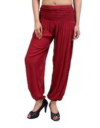 Solid Full Length Casual Women's Trousers