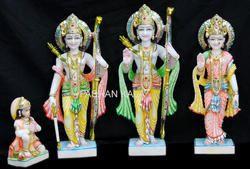 White Marble Ram Laxman Sita Statue
