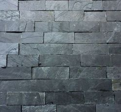Black slate stone wall panel / wall cladding tiles