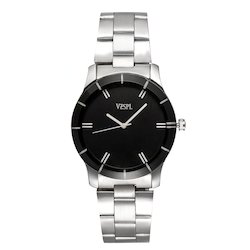 Vespl Round Analog Black Dial Men's & Boy's Watch (VW5001)