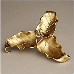 Gold Plated 3 Leaf Bowl