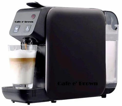 Cafe E Brown Capsule Base Coffee Machine