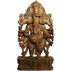Wooden Treemurti Ganesh