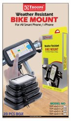 Troops Tp-6011 Weather Resistant Bike Mount Small