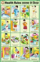 Health Rules For Health & Hygiene Chart