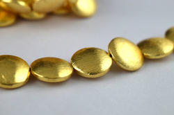 Round Disc Center Drilled Gold Plated Copper Beads 16mm