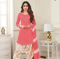Cotton Patiyala Embroidery Salwar Suit