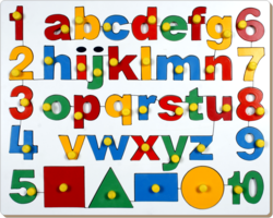 English Alphabets Uppercase With Numbers And Shapes