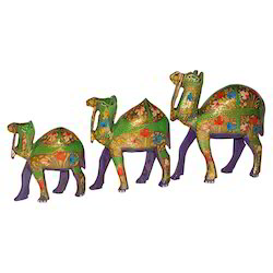 Paper Machie Camel With Flower Design