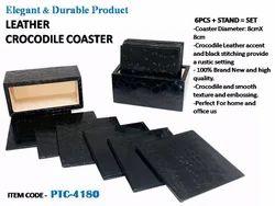 Leather Crocodile Tea Coaster