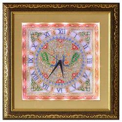 Marble Peacock Clock