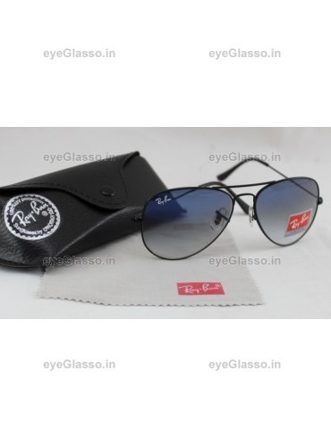 6e8a7ab82a RB 3025 Ray Ban Aviator Blue   Black Gradient Sun Glasses