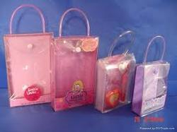 PVC Handle Bags / Handle Bags / Transparent Pouch With Handle