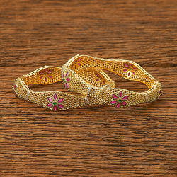 CZ Classic Bangles with gold plating 62796