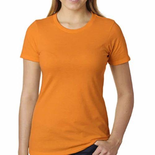 0c2d9cc552140 Womens T-Shirt - Plain Round Neck T Shirt Manufacturer from Tiruppur