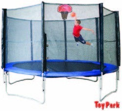 10FT. Trampoline With Basketball Hoop (PI 542)