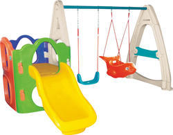 Outdoor Play Combo With Swing and Slide