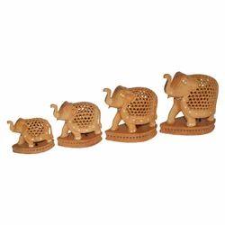 Wooden Undercut Paoti Elephant