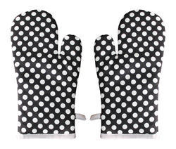 White And Black Dotted Glove