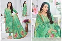 Printed Green Eleesaa Salwar Suit Fabric