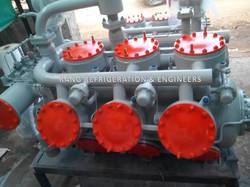 Double Stage Refrigeration Compressor