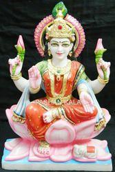 Makrana Marble Laxmi Maa Statue