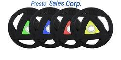 Presto Tri-Grip Rubber Coated Weightlifting Plates( New Launch)
