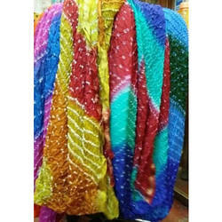 Bandhej Silk Dupatta