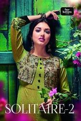 Solitaire Kurti By Four Buttons