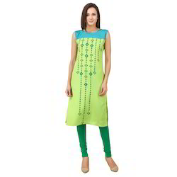 Binny Creation Casual Digital Printed Faux Crepe Kurti
