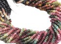 Multi Toumaline Faceted Beads