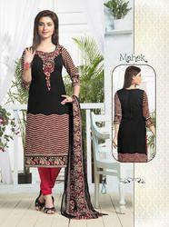 Designer Crepe Dress Material