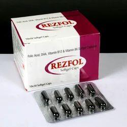 Folic Acid, DHA,Vitamin B12 and Vitamin B6 Softgel Capsules