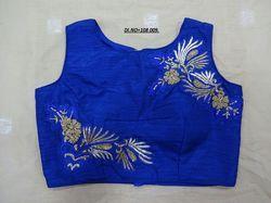 Blue Banglori Silk Stitched Blouse