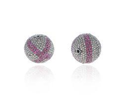 Silver Diamond Ball Findings