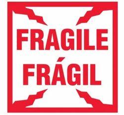 Bilingual Fragile Package Handling Label