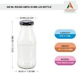 200 Ml Amita Juice Bottles with 38mm Lug Cap