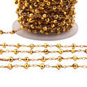 Gold Pyrite Gemstone Chains