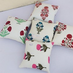 Hand Block Printed Cushion Covers Pillow Case