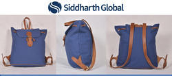 Designer Premium Canvas Leather Backpack