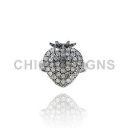 Diamond Strawberry Mid Ring