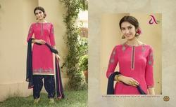 Embroidered Saina Salwar Suit Fabric