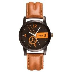 Vespl Analog Black Dial Men's Watch-VW1014