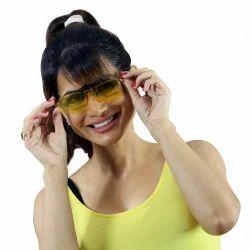 Kawachi Yellow Polarized Clip On Sunglasses Glasses Flip Up Driving Night Vision Sunglasses