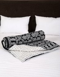 Single Bed Sheet Paisley Hand Printed Cotton Quilt Cover